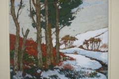 Scots pines in snow by Heather Strong