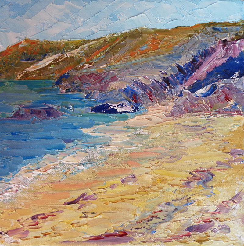 Cornish Clifftops by Heatherbell Barlow