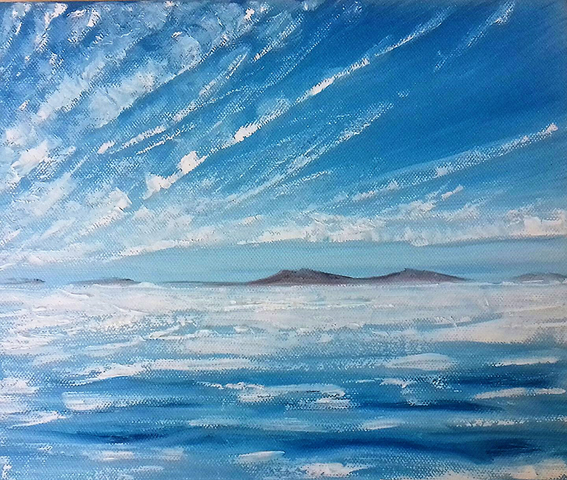 Scilly sea and sky 2017 by Heatherbell Barlow