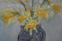 Yellow Flowers in a Vase by Virginia Holmes