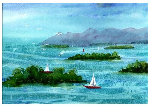 Celia Olsson Watercolour classes